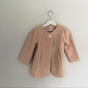 Blossom Couture Pink Pea Coat Size 3-4T